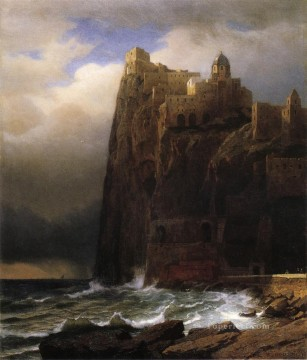 Cliffs Art - Coastal Cliffs aka Ischia scenery Luminism William Stanley Haseltine