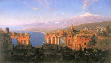 Greek Theater at Taormina scenery Luminism William Stanley Haseltine Oil Paintings