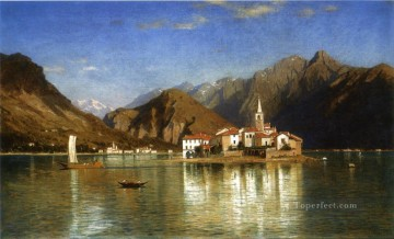 Lago Maggiore scenery Luminism William Stanley Haseltine Oil Paintings