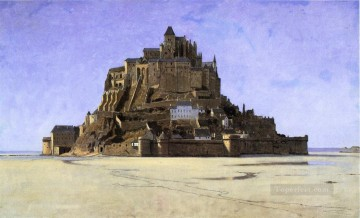 William Stanley Haseltine Painting - Mont Saint Michel scenery Luminism William Stanley Haseltine