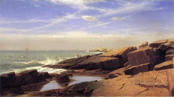 Rocks Painting - Rocks at Nahant2 scenery Luminism William Stanley Haseltine