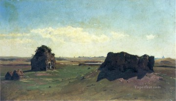 William Stanley Haseltine Painting - Torre degli Schiavi Campagna Romana scenery Luminism William Stanley Haseltine