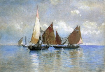 Venetian Fishing Boats seascape boat William Stanley Haseltine Oil Paintings