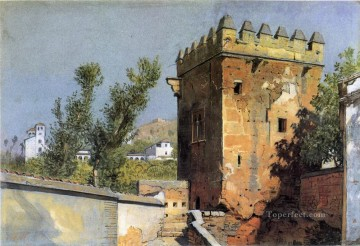 Spain Oil Painting - View from the Alhambra Spain scenery Luminism William Stanley Haseltine
