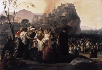 The Refugees Of Parga Romanticism Francesco Hayez Oil Paintings