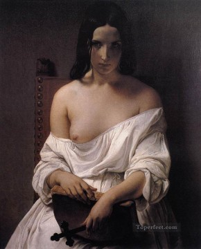 Italy Painting - Meditation On The History Of Italy Romanticism Francesco Hayez