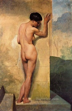 Nudo di donna stante 1859 Francesco Hayez Oil Paintings