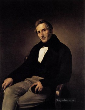 Francesco Canvas - Portrait Of Alessandro Manzoni Romanticism Francesco Hayez