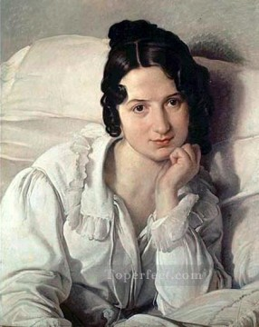 Francesco Canvas - Portrait of Carolina Zucchi Romanticism Francesco Hayez