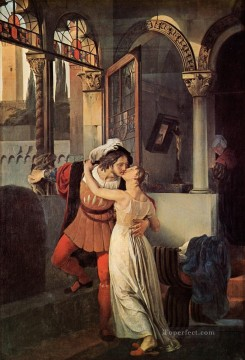 klimt kiss Painting - The Last Kiss of Romeo and Juliet Romanticism Francesco Hayez