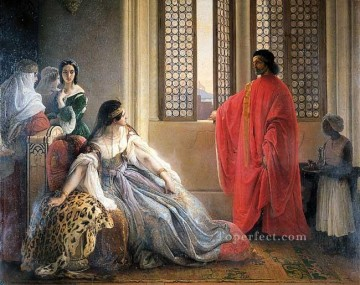cat Art Painting - Caterina Cornaro Deposed from the Throne of Cyprus Romanticism Francesco Hayez