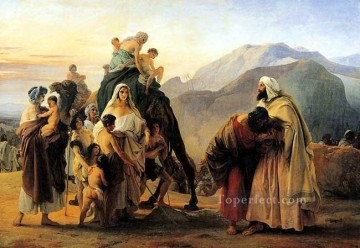 Jacob and Esau Romanticism Francesco Hayez Oil Paintings