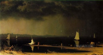 storm Works - Thunder Storm on Narragansett Bay ATC Romantic Martin Johnson Heade
