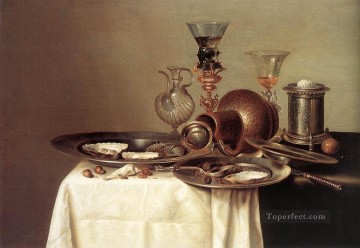 Still Life 1637 Willem Claeszoon Heda Oil Paintings