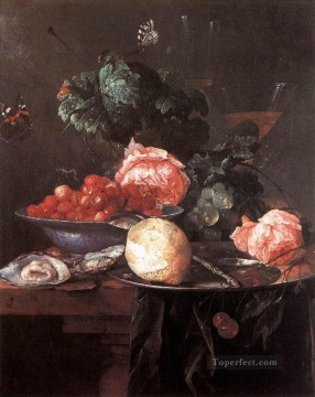 Fruit Painting - Still Life With Fruits 1652 Dutch Baroque Jan Davidsz de Heem