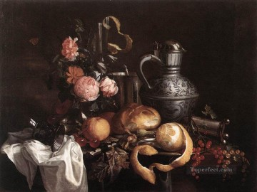 Still Life Of Books Dutch Baroque Jan Davidsz de Heem Oil Paintings