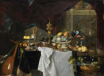 De Still Life Of Dessert Dutch Baroque Jan Davidsz de Heem Oil Paintings