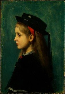 Alsatian Girl Jean Jacques Henner Oil Paintings