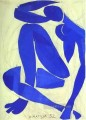 Blue Nude IV abstract fauvism Henri Matisse
