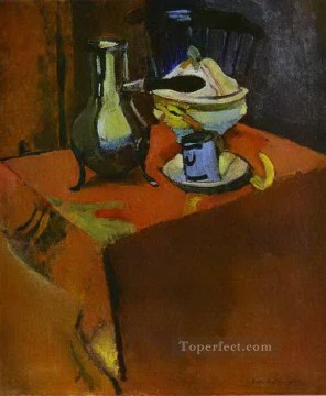 Henri Matisse Painting - Crockery on a Table abstract fauvism Henri Matisse