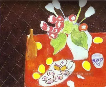 Henri Matisse Painting - Tulips and Oysters on Black Background abstract fauvism Henri Matisse