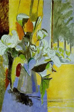 fauvism - Bouquet of Flowers on the Veranda 191213 abstract fauvism Henri Matisse