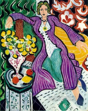 fauvism works - Femme au manteau violet Woman in a Purple Coat abstract fauvism Henri Matisse
