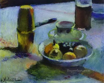 Henri Matisse Painting - Fruit and Coffee Pot 1899 abstract fauvism Henri Matisse