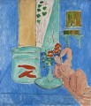 Goldfish and a Sculpture abstract fauvism Henri Matisse