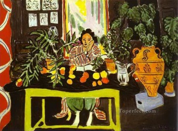 fauvism - Interior with Etruscan Vase abstract fauvism Henri Matisse