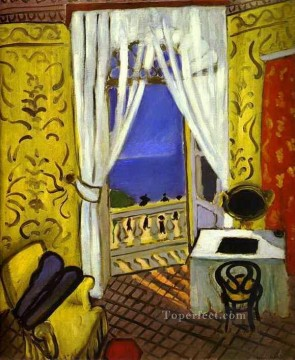 fauvism - Interior with a Violin Case abstract fauvism Henri Matisse