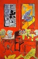 Large Red Interior abstract fauvism Henri Matisse