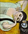 Laurette s Head with a Coffee Cup abstract fauvism Henri Matisse
