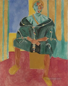 Rifain Art - Le Rifain assis Seated Riffian Late abstract fauvism Henri Matisse