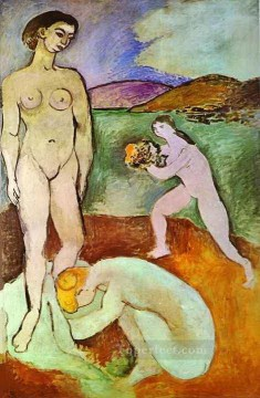 fauvism works - Luxe I nude 1907 abstract fauvism Henri Matisse