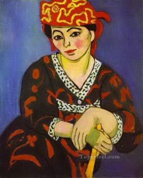 Henri Matisse Painting - Madame Matisse madras rouge abstract fauvism Henri Matisse