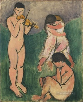 Henri Matisse Painting - Music Sketch nude abstract fauvism Henri Matisse