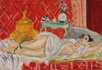 fauvism - Odalisque Harmony in Red nude 1926 abstract fauvism Henri Matisse