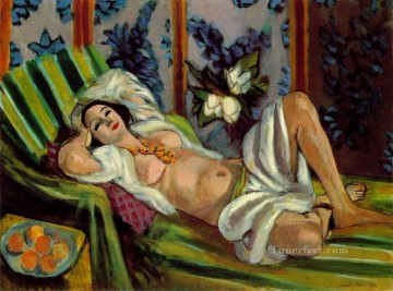 Henri Matisse Painting - Odalisque with Magnolias nude 1923 abstract fauvism Henri Matisse