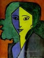 Portrait of Lydia Delectorskaya the Artist s Secretary abstract fauvism Henri Matisse
