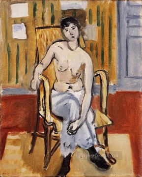 fauvism - Seated Figure Tan Room nude 1918 abstract fauvism Henri Matisse