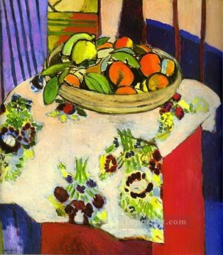 life - Still Life with Oranges abstract fauvism Henri Matisse