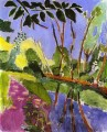 The Bank scenery abstract fauvism Henri Matisse