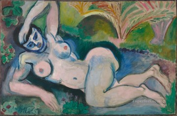 fauvism - The Blue Nude Souvenir of Biskra 1907 abstract fauvism Henri Matisse