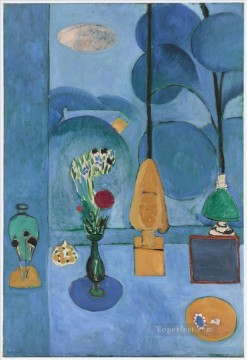 fauvism works - The Blue Window abstract fauvism Henri Matisse