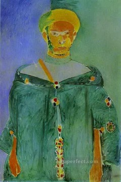 fauvism - The Moroccan in Green 1912 abstract fauvism Henri Matisse