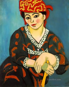 Henri Matisse Painting - The Red Madras Headress Madame Matisse Madras Rouge abstract fauvism Henri Matisse