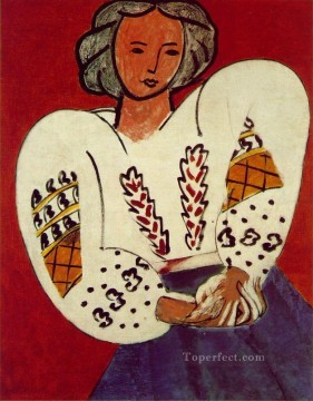 Henri Matisse Painting - The Rumanian Blouse abstract fauvism Henri Matisse
