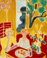 Two Girls in a Yellow and Red Interior 1947 abstract fauvism Henri Matisse