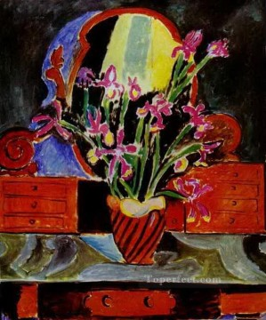 fauvism - Vase of Irises 1912 abstract fauvism Henri Matisse